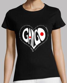 CorazónBlanco-Camiseta MCNegro
