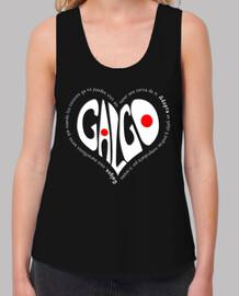 CorazónBlanco-Camiseta TLargaNegro
