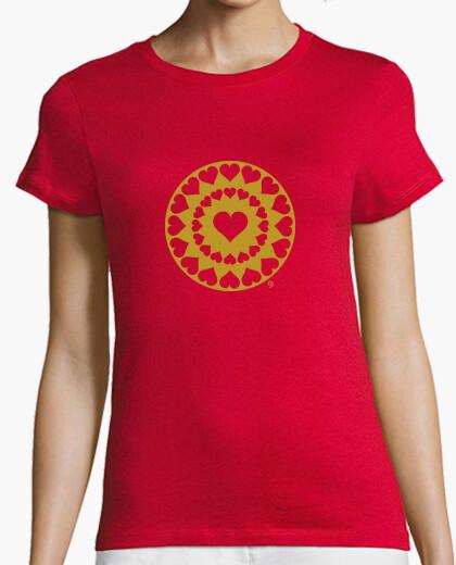 Camiseta CORAZONES - DORADO