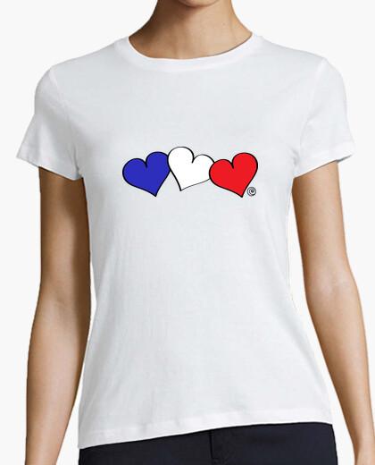Camiseta CORAZONES BANDERA FRANCESA