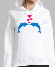 corazones de amor de delfines