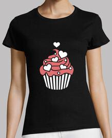 corazones de cupcake