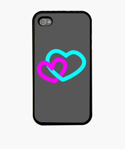 Funda iPhone Corazones Desigual