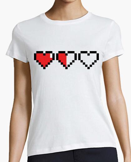 Camiseta Corazones Gamer Pixel / Corazon Partido