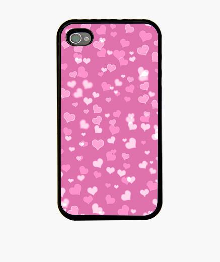 Funda iPhone corazones rosados iphone 4