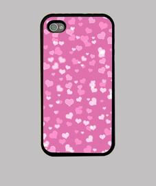 corazones rosados iphone 4