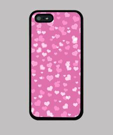 corazones rosados iphone 5