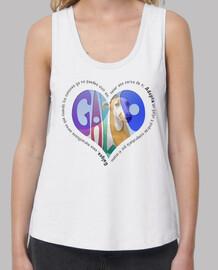 CorazónMulticolor-Camiseta TLargaBlanco