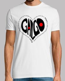 CorazónNegro-Camiseta Chico MCBlanco
