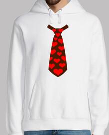 corbata corazones traje esmoquin