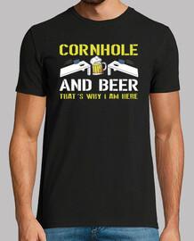 cornhole and bière c'est pourquoi je suis ici trou de maïs drôle