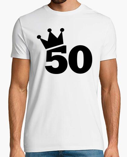 T-shirt corona 50 ° compleanno