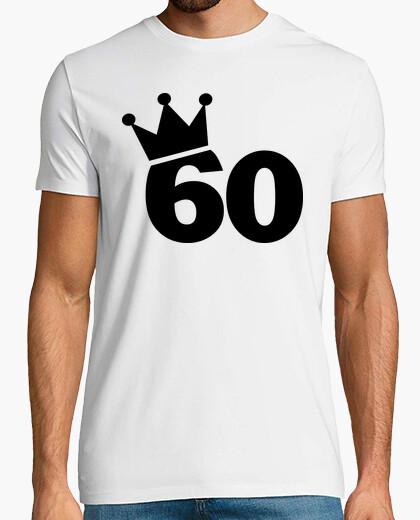 T-shirt corona 60 ° compleanno