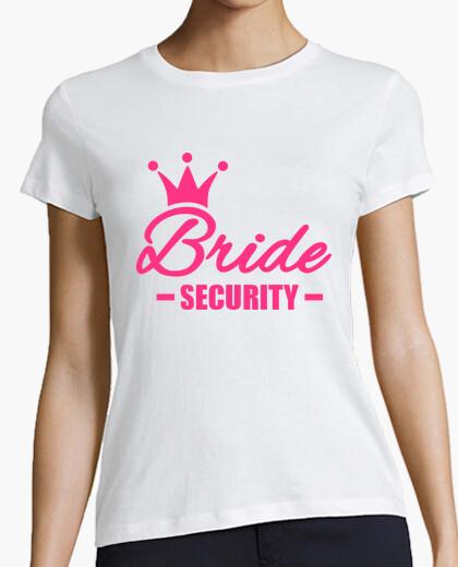 Camiseta corona de la seguridad de la novia