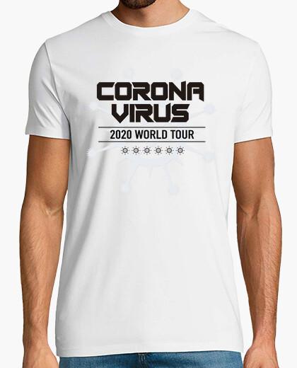Camiseta corona virus world tour