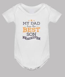 corpo con messaggio mio dad ha i best sono nel world per bambino appena nato