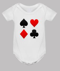 corpo del bambino vestiti poker