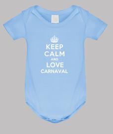 corpo per neonato keep calm and amore carnevale