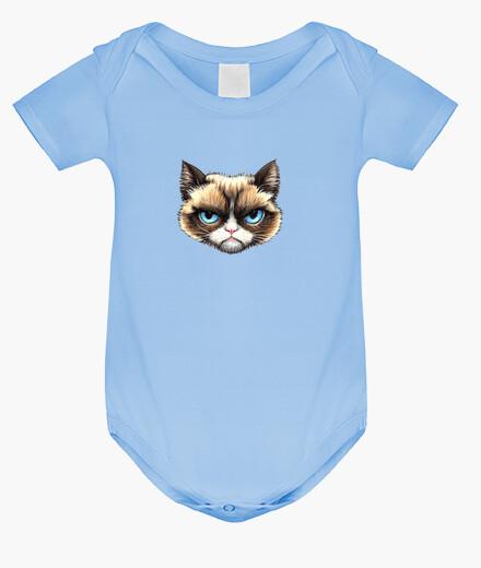 Vêtements enfant corps de chat bébé, bleu clair
