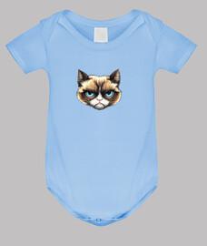 corps de chat bébé, bleu clair
