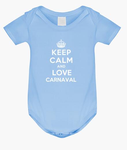 Vêtements enfant corps pour bébé à keep le and calm and le carnaval amour