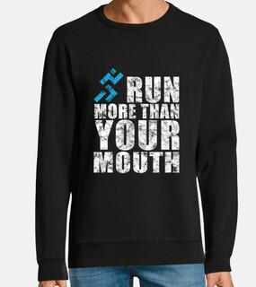 corre más de tu boca corriendo diseño
