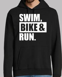 correr bicicleta de natación