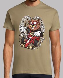 corsa della t-shirt giovane pilota del castoro del cartoni animati