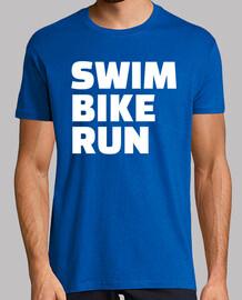 corsa in bicicletta nuoto