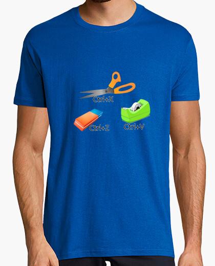 Camiseta Cortar, pegar, borrar
