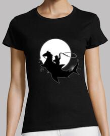 costellazione di cowboy squalo rodeo - silhouette - fantasia - astronomia - cosmo - spazio