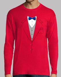 costume cravate bleu bow
