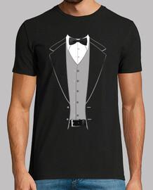 costume cravate papillon noir