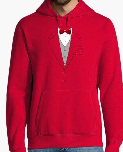 Sweat costume noeud papillon rouge