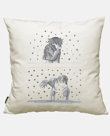 Cotton cushion cover, white