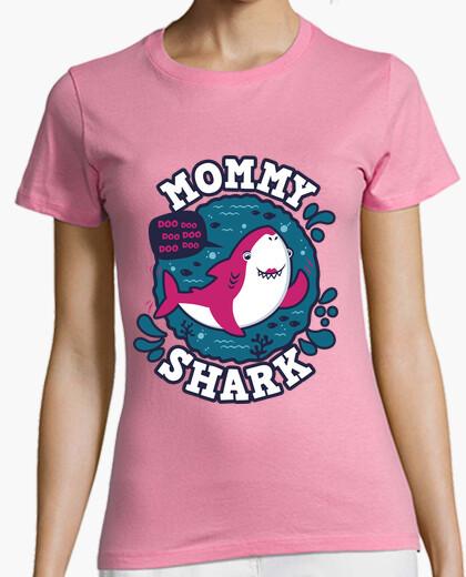 Tee-shirt coup de maman requin