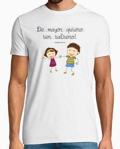 Tee-shirt courtes t-shirt je veux être quelques salsa