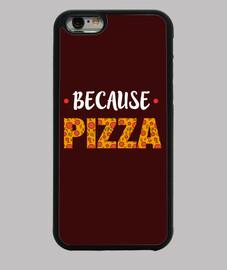 couverture d'iphone - parce que la pizza