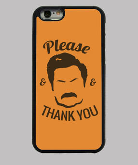 couverture d'iphone - ron swanson s'il vous plaît and merci
