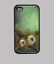 Cover  orsetti iPhone 4, nera