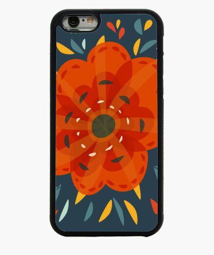 Cover iPhone 6 / 6S bel fiore arancione...