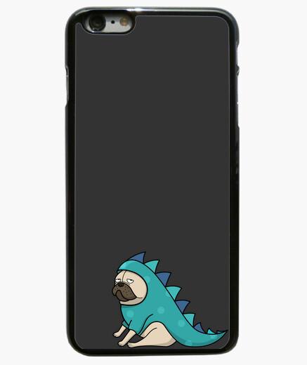 Cover Iphone Cover Iphone 6 Plus Nera Pug Pug Dinosauro 1207516