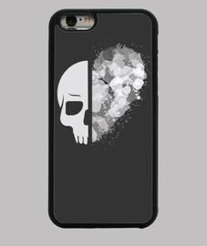 cover iphone cuore teschio bianca