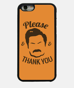 cover iphone - ron swanson favore e grazie you
