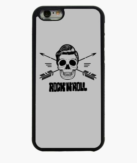 Cover iPhone 6 / 6S cover iphone teschio rock e roll nera