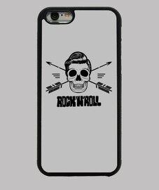 cover iphone teschio rock e roll nera
