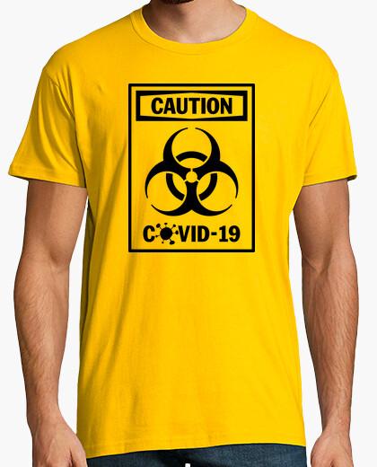 Camiseta Covid-19 - Precaución