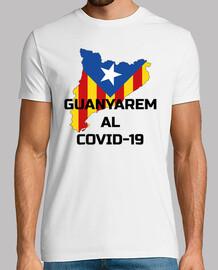 covid-19 catalonia guanyarem t-shirt -shirt black