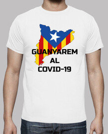 covid-19 catalonia guanyarem t-shirt noir