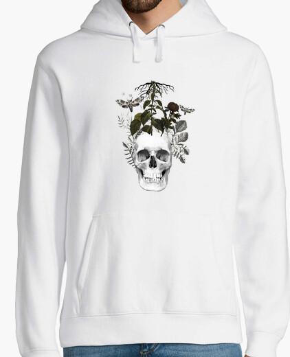 Sweat crâne avec des fleurs et des plantes